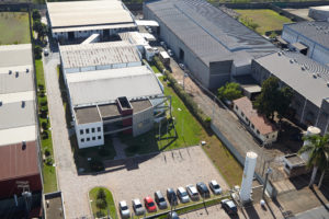 Moderna sede da Rainha Nutracêuticos com um parque industrial de 14 mil metros quadrados no município de Sumaré