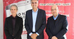 Diretores Ciesp e o Prefeito de Jaguariúna, Gustavo Reis_Crédito_Roncon&Graça Comunicações
